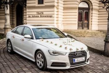 Audi A6 S-Line biały promocja auto do ślubu nie Mercedes BMW limuzyna, Samochód, auto do ślubu, limuzyna Alwernia