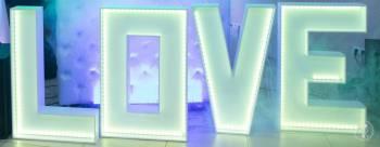 Napis LOVE rgb led wynajem, Dekoracje ślubne Żywiec