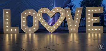 Napis LOVE Litery Literki LED,Dodatki-Just Married, Napis Love Chełm