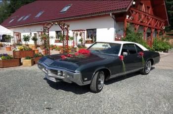 Auto do ślubu Buick Riviera 1969 klasyk 6 osobowy, Samochód, auto do ślubu, limuzyna Olszyna