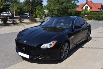 Ślub z klasą tylko luksusowym Maserati Quattroporte GTS, Samochód, auto do ślubu, limuzyna Ciechanów