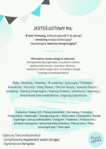 Projekt LABIJA * Organizacja ślubów i imprez okolicznościowych, Wedding planner Kórnik