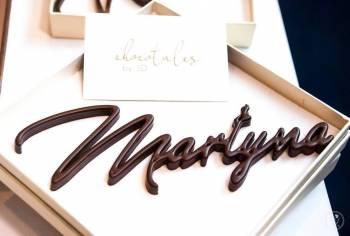 Czekoladowe imiona 3D - winietki i prezenty dla gości, Prezenty ślubne Żychlin