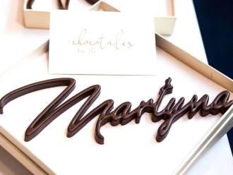 Czekoladowe imiona 3D - winietki i prezenty dla gości, Prezenty ślubne Legionowo