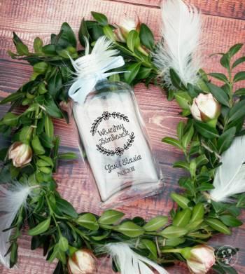 Butelki weselne z nadrukiem, podziękowania dla Gości Weselnych, Artykuły ślubne Jasło