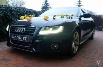Audi A5 sportback , Jeep Commander do ślubu, Samochód, auto do ślubu, limuzyna Luboń