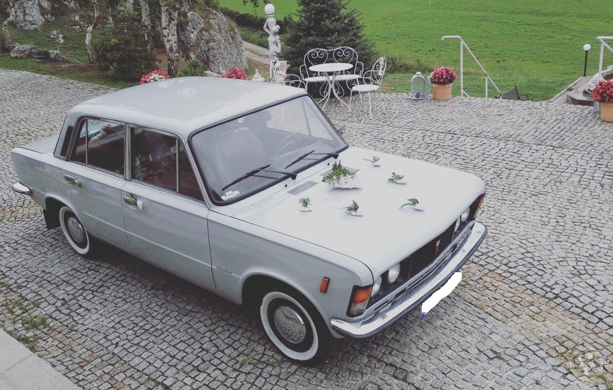 Retro samochód do ślubu.  Fiat 125p. Auto na wesele, wynajem., Olkusz - zdjęcie 1