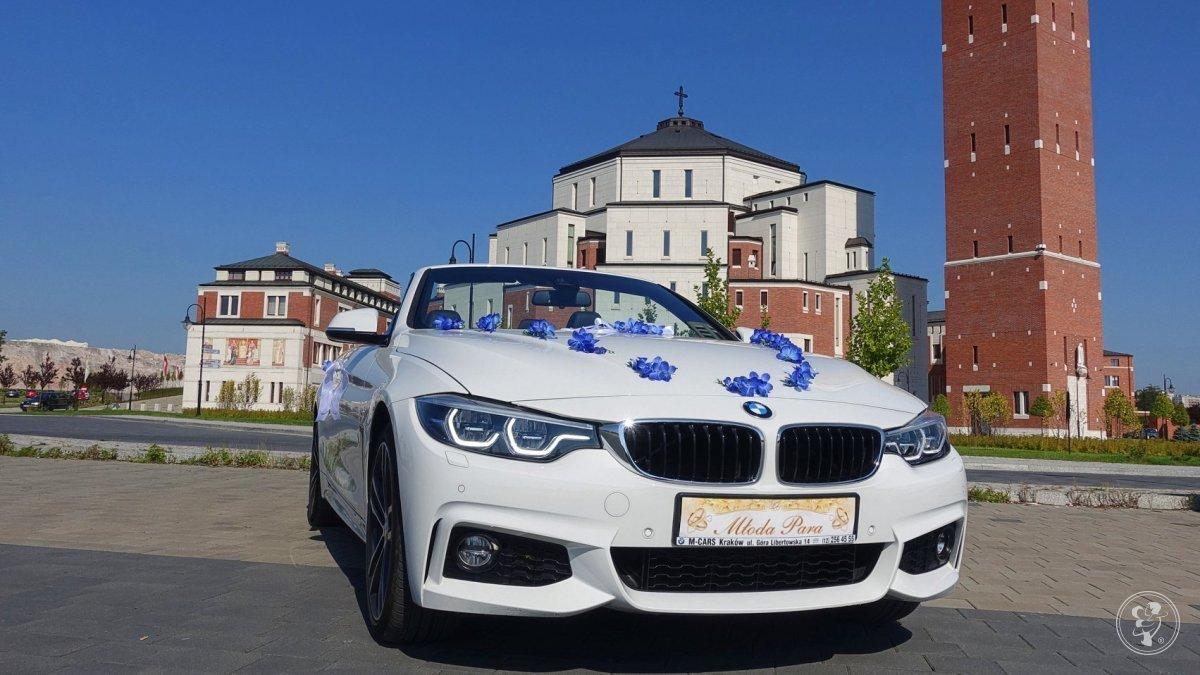 BMW 430i xdrive performance Cabrio - piękny biały kabriolet, Kraków - zdjęcie 1