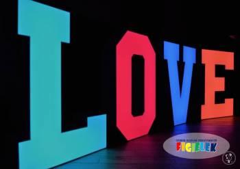LedOVE litery LOVE , Napis Love Białystok