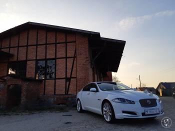 Piękny biały Jaguar XF na 20 calowych felgach, Samochód, auto do ślubu, limuzyna Szprotawa