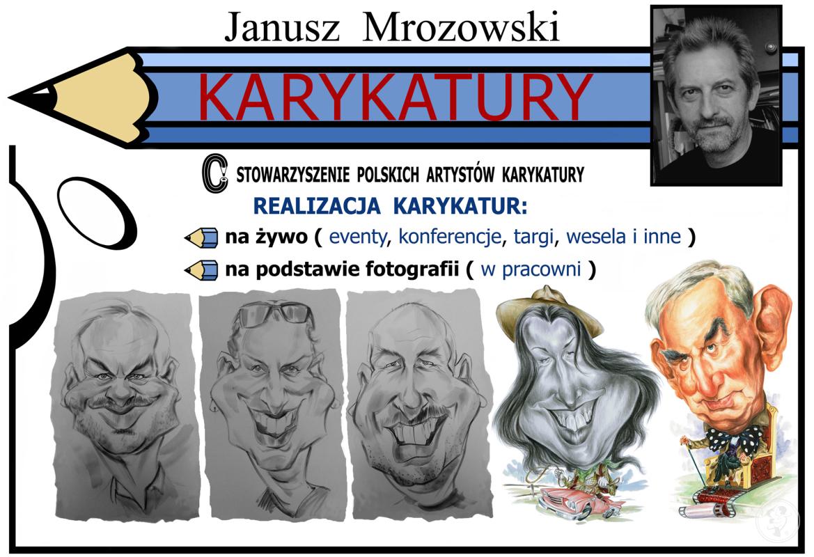 KARYKATURY - JANUSZ MROZOWSKI Rysowanie karykatur na żywo i ze zdjęć., Toruń - zdjęcie 1