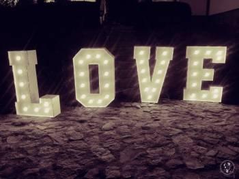 Napis Love 120 cm Wynajem, Napis Love Nowy Staw