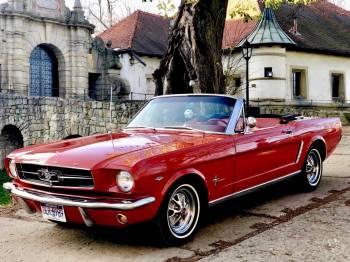 Ford Mustang Kabriolet 1965r oraz 1987r Rolls Royce Corniche II Kabrio, Samochód, auto do ślubu, limuzyna Alwernia