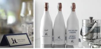Personalizowane neoprenowe pokrowce na butelki, Dekoracje ślubne Kwidzyn