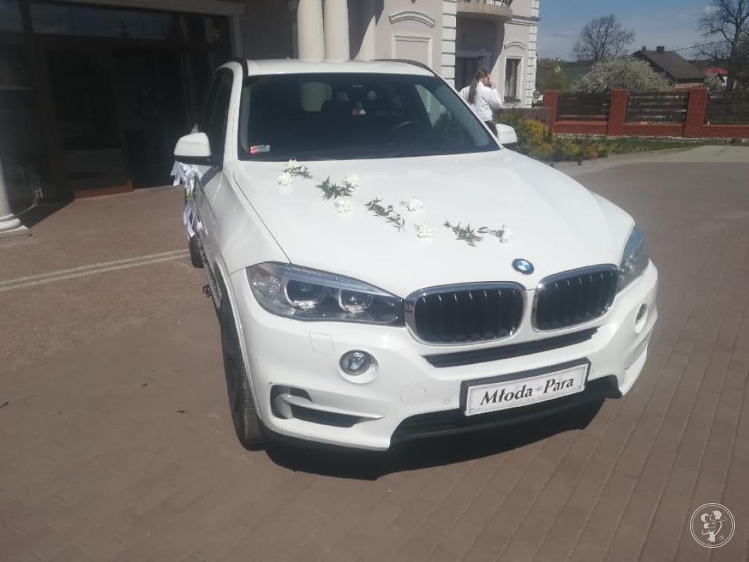 BMW x5 białe na ślub wesele z kierowcą wolne terminy, Zawiercie - zdjęcie 1