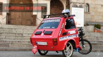 Imprezowa riksza - Fiat 126p, Samochód, auto do ślubu, limuzyna Łazy