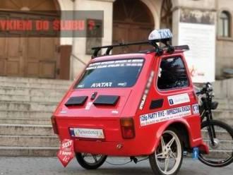 Imprezowa riksza - Fiat 126p,  Katowice