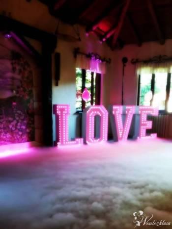 Napis LOVE LED RGB, Napis Love Nowy Staw