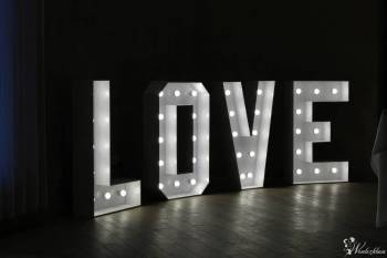 NAPIS LOVE, MIŁOŚĆ, KOCHAM, Dekoracje światłem Pasym