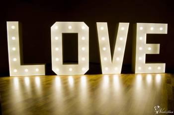 Napis LOVE litery LED, dekoracja na ślub, wesele, rocznice, wynajem, Napis Love Żychlin