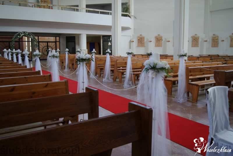 Dekoracje koscioła, sali weselnej, auta do ślubu, Gdańsk - zdjęcie 1