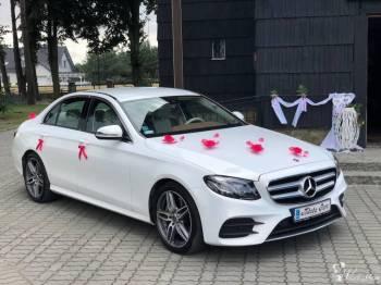 Mercedes E biały i inne od 500 zł za 5h/100km, Samochód, auto do ślubu, limuzyna Kluczbork
