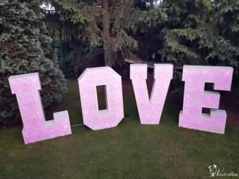 DJ WODZIREJ ZESPÓŁ TALAR Piękny ażurowy napis LOVE RGB 120CM FOTOBUDKA, Napis Love Bydgoszcz
