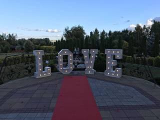 Napis LOVE 120cm wysokości podświetlany od LookPeersPhoto,  Gdańsk