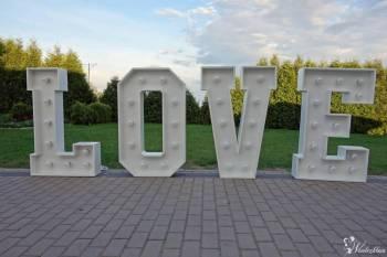 Napis, litery LOVE na ślub, wesele lub inne okazje, Napis Love Opalenica