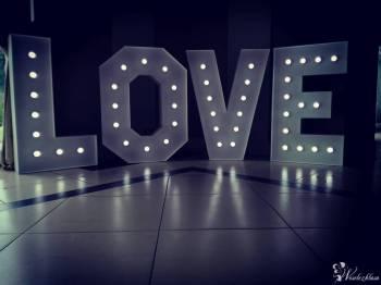 Podświetlany napis LOVE, Bańki mydlane, Napis Love Oborniki