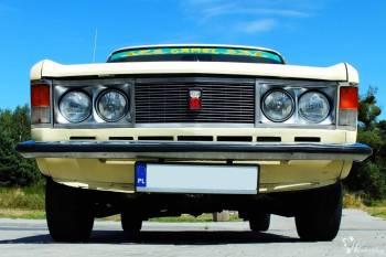 Historyczne auto z okresu PRL Fiat 125p, Samochód, auto do ślubu, limuzyna Ustka