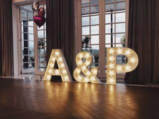 Podświetlane litery - cały alfabet, inicjały, Love, Miłość, Dance,  Warszawa