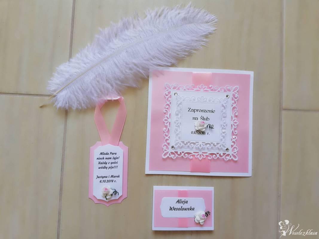 Koronkowy Motylek zaproszenia ślubne, papeteria weselna, Bytom - zdjęcie 1
