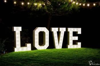 Napis Love biały największy / rustykalny , drewniany LOVE / girlandy, Napis Love Stęszew