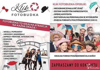 KLIK Fotobudka - atrakcja na wesele oraz forma podziękowania dla gości, Fotobudka, videobudka na wesele Gostyń