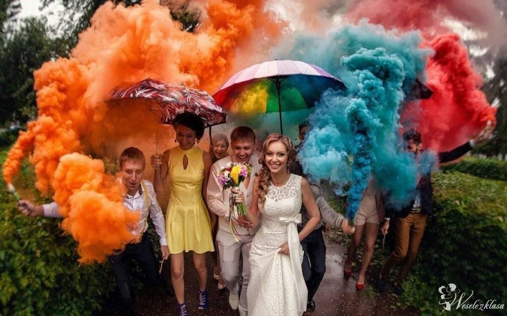 Feniz Kolorowe dymy na ślubne sesje zdjęciowe, zimne ognie, fajerwerki, Mysłowice - zdjęcie 1