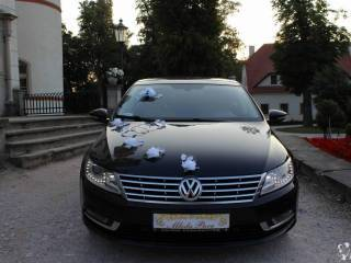 Auto do ślubu, VW CC czarna perła,  Jelenia Góra