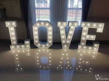 Świecący ledowy napis LOVE 130cm, Dekoracje ślubne Bodzentyn