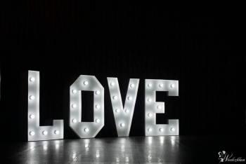 Klasyczny podświetlany napis LOVE, Napis Love Białystok