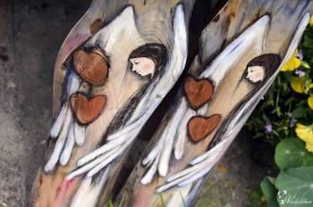 Anioły ręcznie malowane na drewnie - podziękowanie dla rodziców, Artykuły ślubne Warszawa
