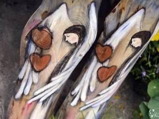 Anioły ręcznie malowane na drewnie - podziękowanie dla rodziców,  Warszawa