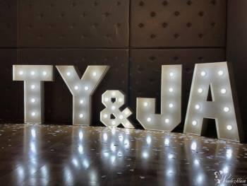 Oryginalny podświetlany napis TY & JA, Dekoracje światłem Suwałki