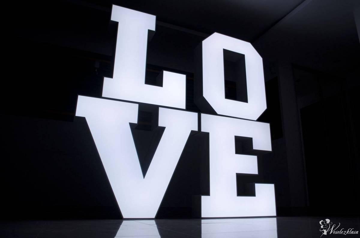 Kolorowy napis LOVE 3D RGB lub napis MIŁOŚĆ LED, Częstochowa - zdjęcie 1