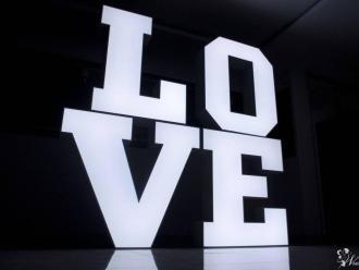 Kolorowy napis LOVE 3D RGB lub napis MIŁOŚĆ LED,  Częstochowa
