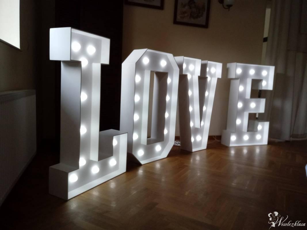 Podświetlany, romantyczny napis LOVE, Łódź - zdjęcie 1