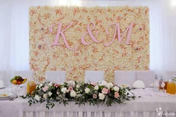 Ścianka kwiatowa Weselna Ślubna śluby, eventy, targi, sesje dekoracje, Dekoracje ślubne Brzeziny