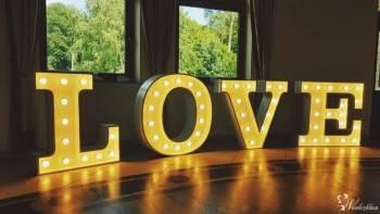 Świetlny napis LOVE - Idealny na dekorację ślubną!, Napis Love Bielsko-Biała