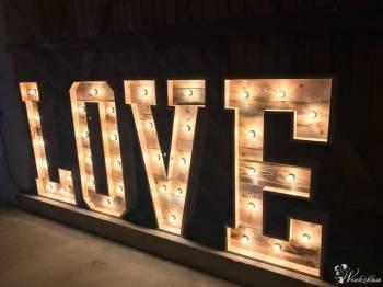 Drewniany Ręcznie robiony  Napis LOVE, Dekoracje ślubne Kołobrzeg