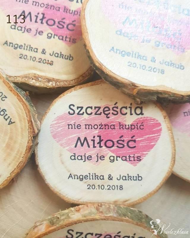 Podziękowania dla gości - plaster brzozy jako magnes, Bielsko-Biała - zdjęcie 1