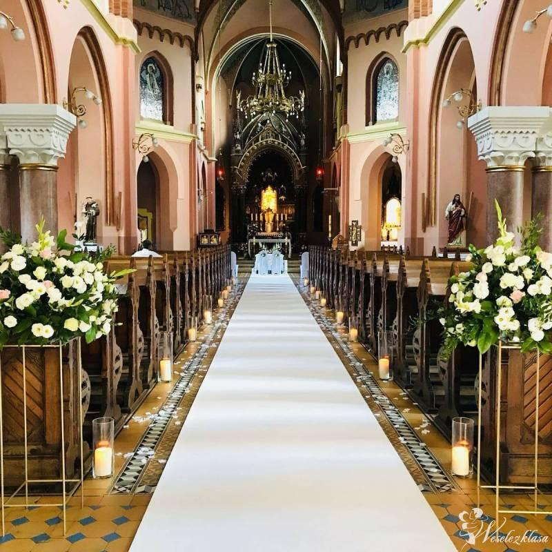 Elegancki dywan na ślub 1,5m x 30m - biały i czerwony, Kraków - zdjęcie 1
